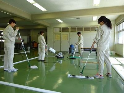 床洗浄の一連実習