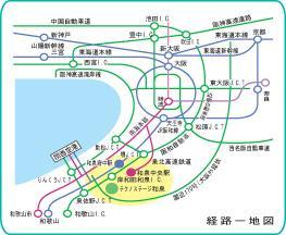 電車利用の場合の地図